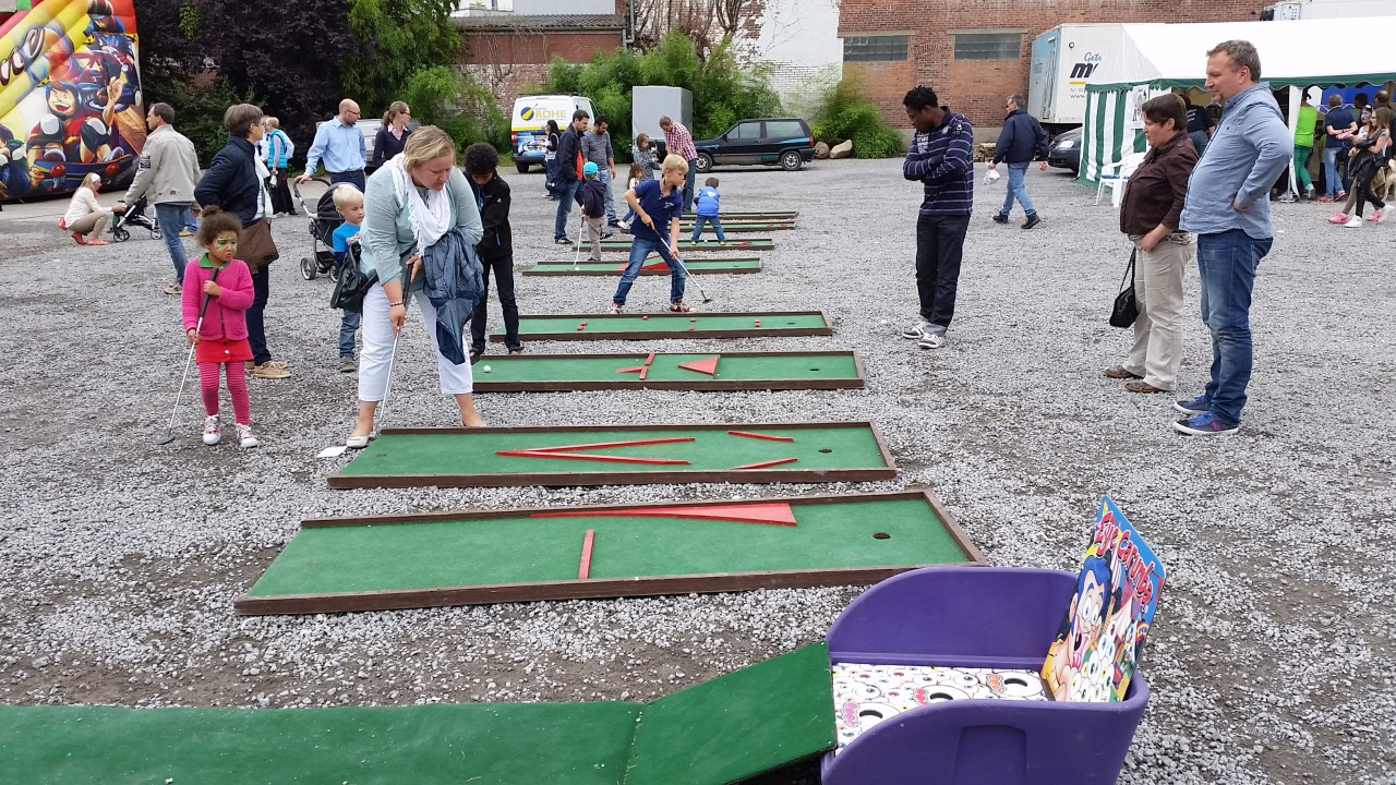 Mobile Mini Golf Bahn